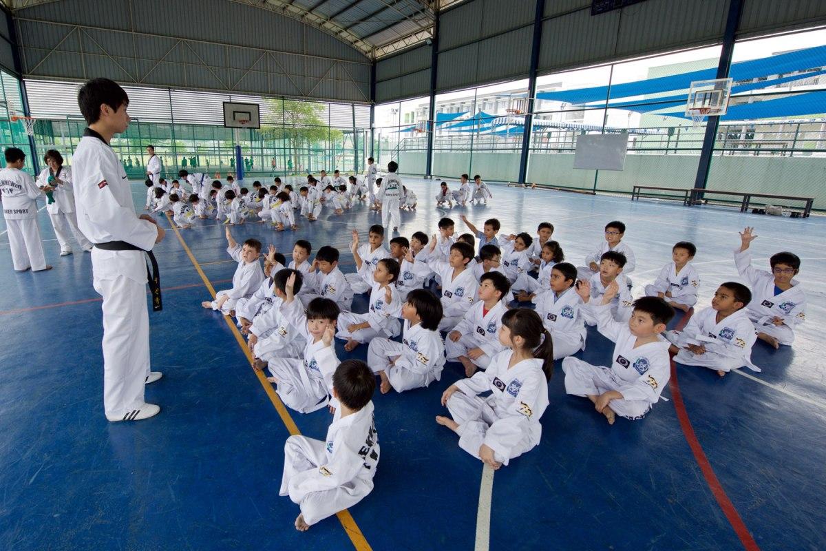Taekwondo CCA at Tenby Schools, Setia Eco Park, Shah Alam.