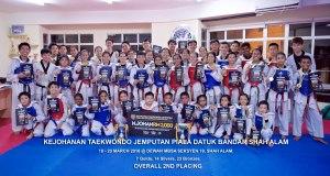 Kejohanan Taekwondo Jemputan Piala Datuk Bandar Shah Alam, 18 - 20 March 2016 with 7 golds, 14 silvers and 23 bronzes.
