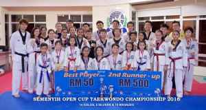 Semenyih Open Cup Taekwondo Championship 2016, 26 - 27 February with 14 golds, 6 silvers & 9 bronzes.
